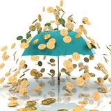 Rain from chinks Royalty Free Stock Image