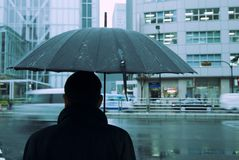 Rain in city royalty free stock photography