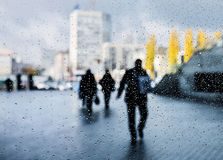 Rain in the city Royalty Free Stock Images