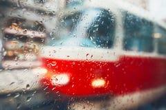 Rain in the city Royalty Free Stock Photo