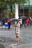 Rain in the City of London. Stock Photography