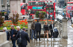 Rain in the City of London. Royalty Free Stock Photography