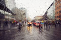 Rain in the city Royalty Free Stock Photos