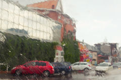 Rain in the city Stock Image