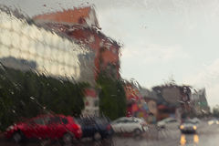 Rain in the city Royalty Free Stock Photography