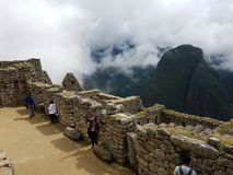 Dramatic Machu Picchu in the Clouds. The rain cleared up at Machu Picchu and gave me some very dramatic photographs royalty free stock images