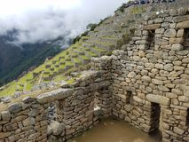 Dramatic Machu Picchu in the Clouds. The rain cleared up at Machu Picchu and gave me some very dramatic photographs stock photography