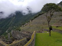 Dramatic Machu Picchu in the Clouds stock image
