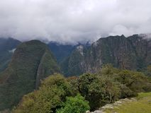 Dramatic Machu Picchu in the Clouds. The rain cleared up at Machu Picchu and gave me some very dramatic photographs royalty free stock photography