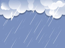 Rain cloud background vector. Rain cloud with flash background vector Stock Photography