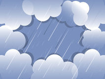 Rain cloud background vector. Rain cloud orunded together background vector Stock Images