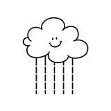 Cartoon rain cloud outline Royalty Free Stock Photography