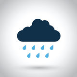 Rain cloud. A rain cloud with rain droplets vector illustration