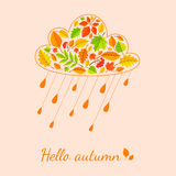 Rain cloud from fall leaves. Stock Images