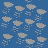 Rain cloud icon, SEAMLESS GEOMETRIC PATTER / BACKGROUND DESIGN. Modern stylish texture. Repeating and editable vector illustration royalty free illustration