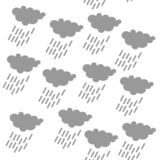 Rain cloud icon, SEAMLESS GEOMETRIC PATTER / BACKGROUND DESIGN. Modern stylish texture. Repeating and editable vector illustration vector illustration