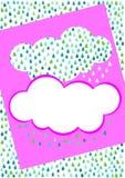 Rain cloud invitation card Stock Photography