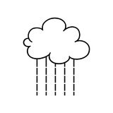 Rain cloud outline Royalty Free Stock Images