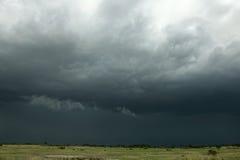 Rain cloud over Africa landscape. Serengeti National Park, Serengeti, Tanzania Stock Photos