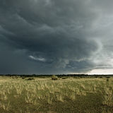 Rain cloud over Africa landscape, Serengeti Royalty Free Stock Images