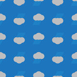 Rain Cloud Seamless Background. Seamless pattern rain cloud with up side down on blue background vector illustration
