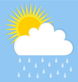 Rain cloud and sun Royalty Free Stock Photos