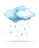 Rain and Cloud. Cloud with Rain and Water Drop royalty free illustration