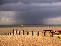 Rain Cloud, Whitstable, kent. Royalty Free Stock Photography