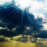 Rain clouds. Sun closed by rain clouds Royalty Free Stock Photo