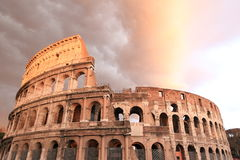 Rain clouds above Colosseum Royalty Free Stock Photos