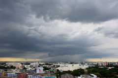 Rain clouds in Bangkok and its vicinity. June 03, 2017 - Bangkok - Thailand - Rain clouds in Bangkok and its vicinity Stock Photo