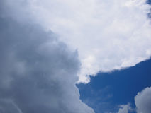 Rain clouds with blue sky Stock Images