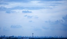 Rain clouds in city Stock Photography