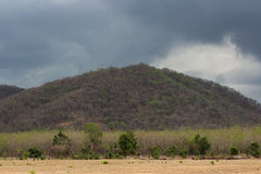 Rain clouds on mountain Stock Images