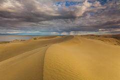 Rain clouds over the desert. Gobi Desert Stock Image