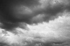Rain. Clouds over horizon. Stock Photography