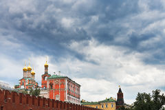 Rain clouds over the Kremlin Stock Images