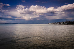 Rain Clouds Over The Sea And Islands Stock Images