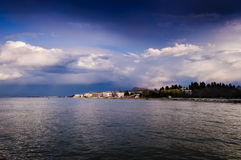 Rain Clouds Over The Sea And Islands Royalty Free Stock Photo