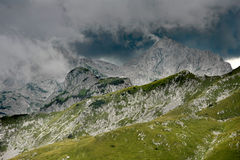 Rain clouds over the Trnovacki Durmitor mountains Stock Photos