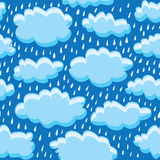 Rain clouds and rain Royalty Free Stock Images