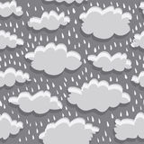 Rain clouds and rain Royalty Free Stock Photography