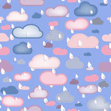 Rain  and Clouds Seamless Royalty Free Stock Photo