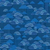 Rain clouds seamless pattern background Royalty Free Stock Images