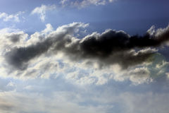 Rain clouds in the sky Royalty Free Stock Photography