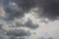 Rain clouds in the sky. Stock Image