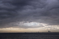 Rain Clouds and Storm at Istanbul Royalty Free Stock Photos