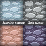 Rain clouds. Storm. Seamless pattern. Vector set. Royalty Free Stock Images