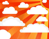 Rain clouds with sun Royalty Free Stock Photos