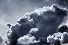Rain clouds. Sunny day. Stock Photos